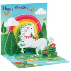 Mini carte pop-up Licorne...