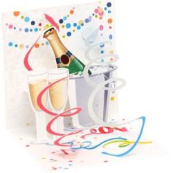 Mini carte pop-up Champagne