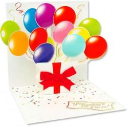 Carte pop-up Ballons