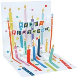 Carte pop-up Plein de bougies