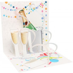 Carte pop-up Champagne