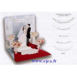 Carte pop-up Heureux mariage