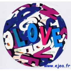 Carte ronde Love