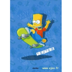 Cahier de textes Bart Simpson