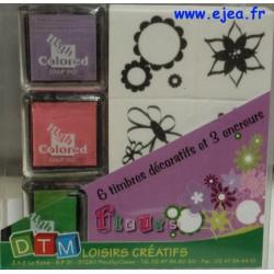 Coffret timbres Fleurs DTM