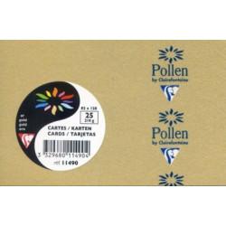 Pollen 25 cartes OR brillant