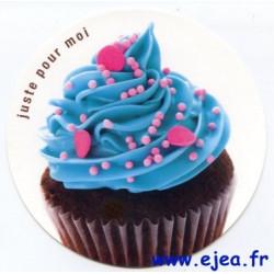Carte ronde Cupcake Juste...