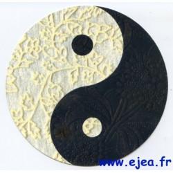 Carte ronde Yin et Yang