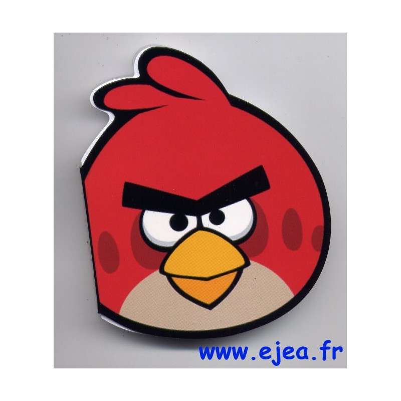 Angry birds carnet forme oiseau rouge - Angry birds rouge ...