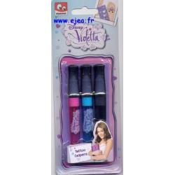 VIOLETTA 3 stylos gel...