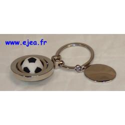 Porte-clé métal ballon de foot