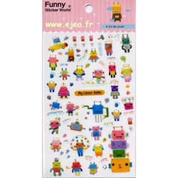 Funny Sticker World Robots