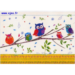 Carte postale Hanra Hiboux...