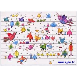 Carte postale Hanra Oiseaux...