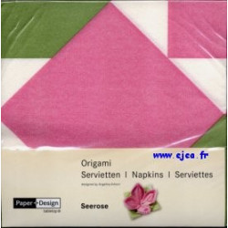 Serviettes Origami nénuphar...