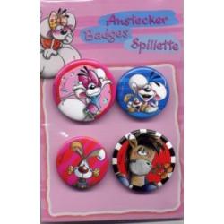 4 badges Diddl