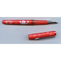 Stylo plume Hello Kitty rouge