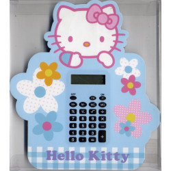 Calculatrice bleue Hello Kitty