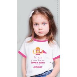 Baby Happy T-shirt rose...