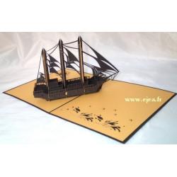 Carte 3D Caméléon Bâteau...