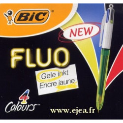 Stylo Bic 4 couleurs Fluo