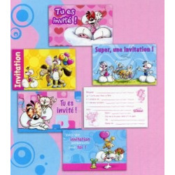 10 cartes d'invitations Diddl