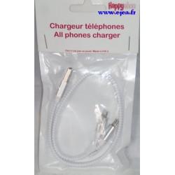 Zip chargeur téléphone blanc
