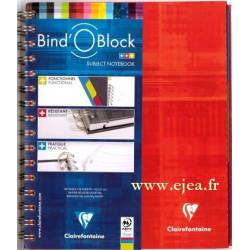 Cahier Bind'O Block ROUGE