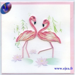 Carte Flamants roses en...