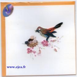 Carte Oiseau et oisillons...