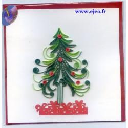 Carte Sapin de Noël en...