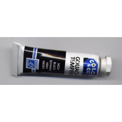 Tube de gouache 10 ml Noir...