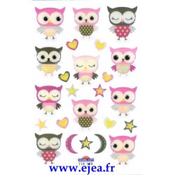 Stickers Mini Sweet Chouettes
