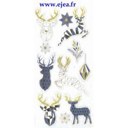 Stickers Sceny Noël Origami...