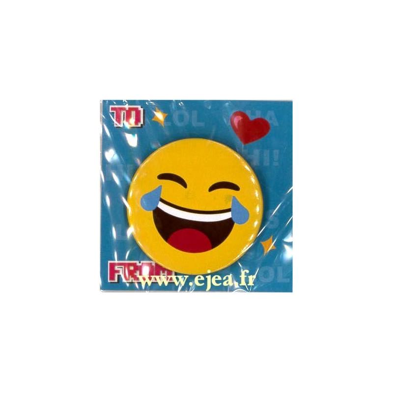 Badge Emoji Mdr Mort De Rire
