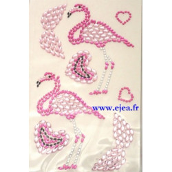 Stickers Strass Flamants roses