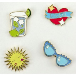 Pins Summer Set de 4 pin's