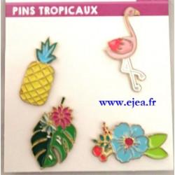 Pins Tropicaux Set de 4 pin's