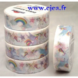 Masking tape Licornes