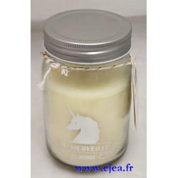 Bougie Mason Jar Licorne...