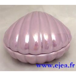 Boite coquillage violet