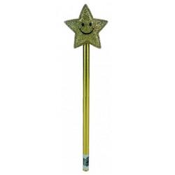 Crayon à papier étoile dorée