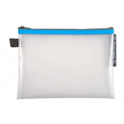 Pochette Zip A5 bleu