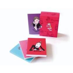 Boîte 4 petits carnets des...