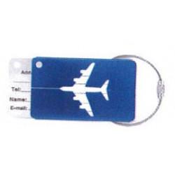 Etiquette de bagage Avion Bleu