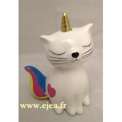 Tirelire Caticorn blanc