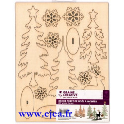 Décor forêt de Noël à monter