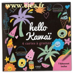 Hello Kawaï 6 mini cartes à...