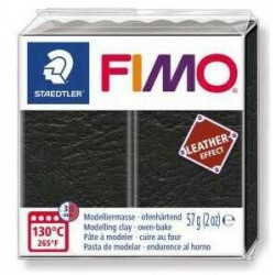Fimo Effet Cuir Noir 909