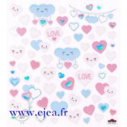 Stickers Classy Coeurs et...